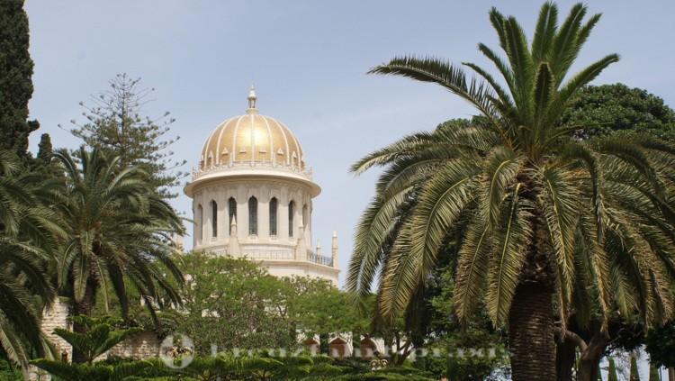 Haifa - Die Kuppel des Bahai-Schreins