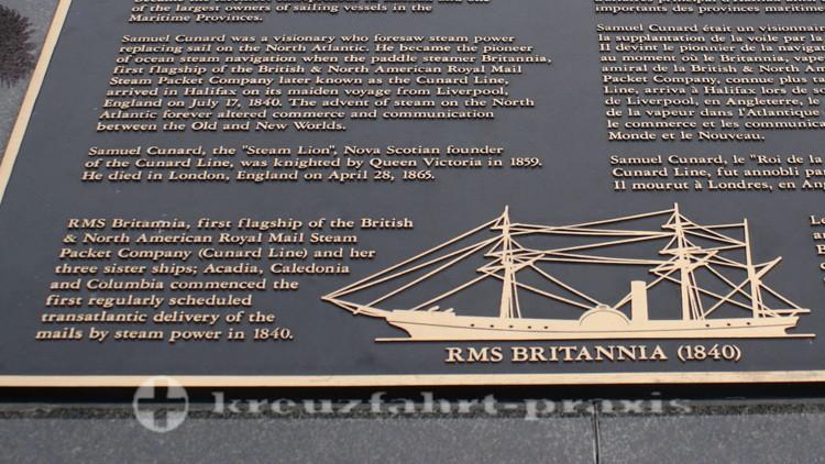 Aufriss der Britannia im Hafen von Halifax/Nova Scotia