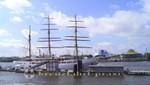 Liegeplatz Überseebrücke mit Sea Cloud ll