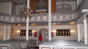 Sunnylven Holzkirche - Kirchenschiff