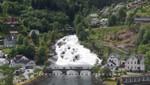 Der Langedalselva Wasserfall