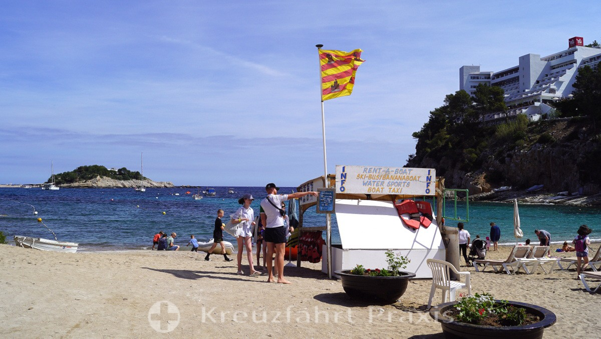 Beach section at Port de Sant Miquel