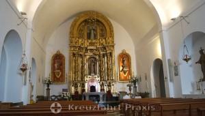 Die Kirche von Santa Eulària - der Altarraum