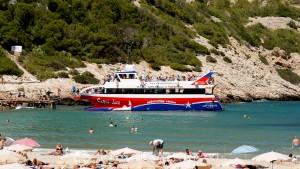 Bay of Cala Llonga - ship of the line