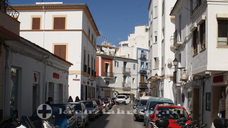 Ibiza-Stadt - Häuser in der Carrer de Riambau