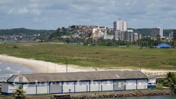 Ilhéus - Schiffsliegeplatz mit Blick auf Ilhéus