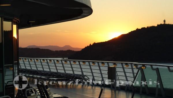 evening sun over the dardanelles