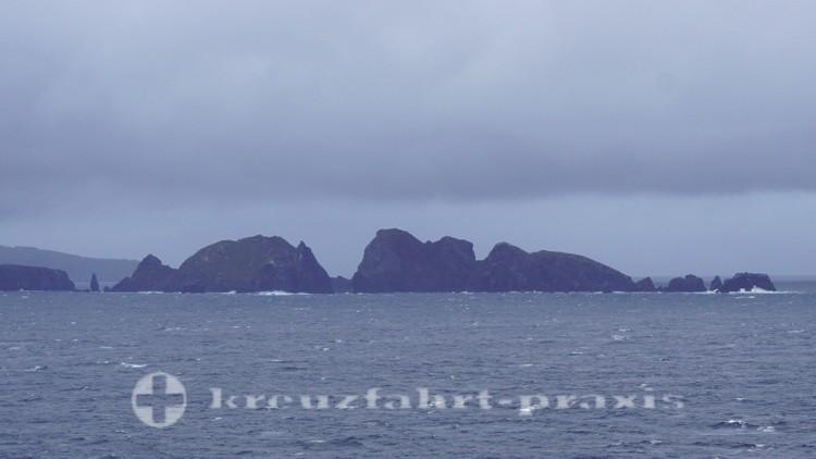 Felsen vor Isla Hornos