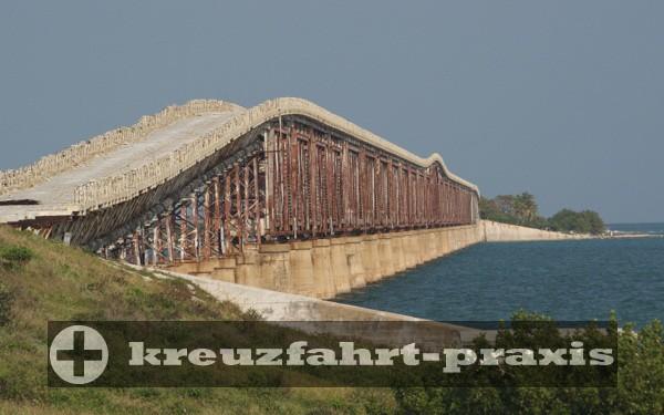 Key West - Vom Hurrikan zerstörte Brücke