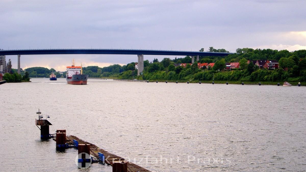 Kiel Canal - the Holtenau lock and high bridge