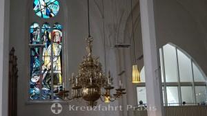 Sankt Nikolai Church - a stained glass window