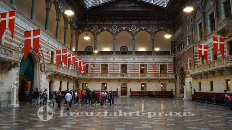 The entrance hall of Copenhagen City Hall