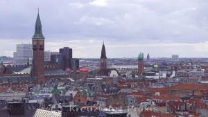 Copenhagen with the city hall tower