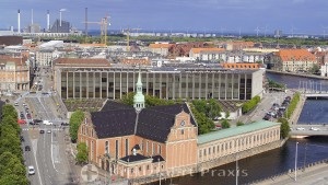 Copenhagen - Holmens Kirke and the Danish National Bank