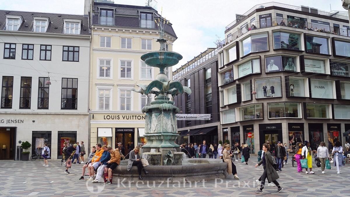 Amagtorv with the stork fountain