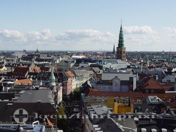 Kopenhagen  - Panoramablick vom Rundetarn