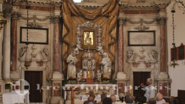 Marmoraltar des Franziskanerklosters der Hl. Klara