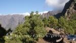La Palma - Parkplatz an der Cumbrecita