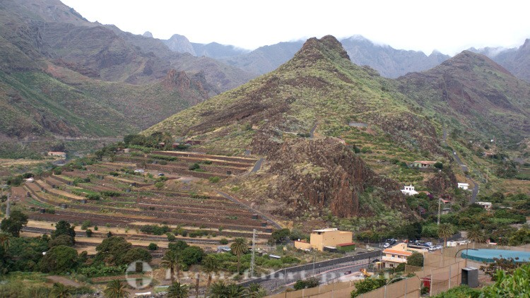 La Gomera - Landwirtschaftaftlich genutzte Terrassen bei El Molinito