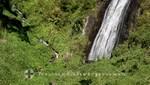 La Réunion - Cascade Voile de la Mariée mit Wanderern