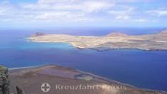 Die Insel La Graciosa und die Salinas del Rio