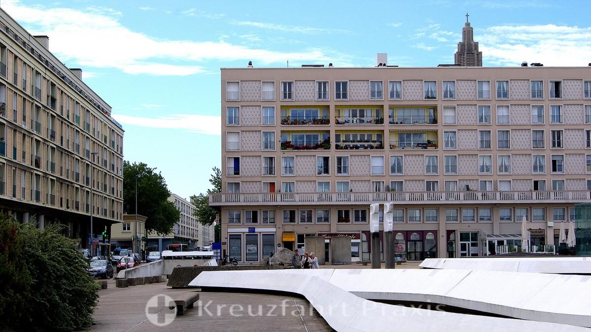 Le Havre - moderne Betonarchitektur im Stadtzentrum