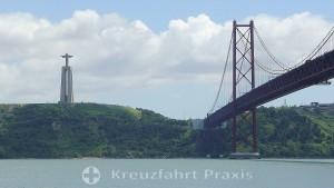 Lisbon - Ponte 25 de Abril with the Cristo Rei statue
