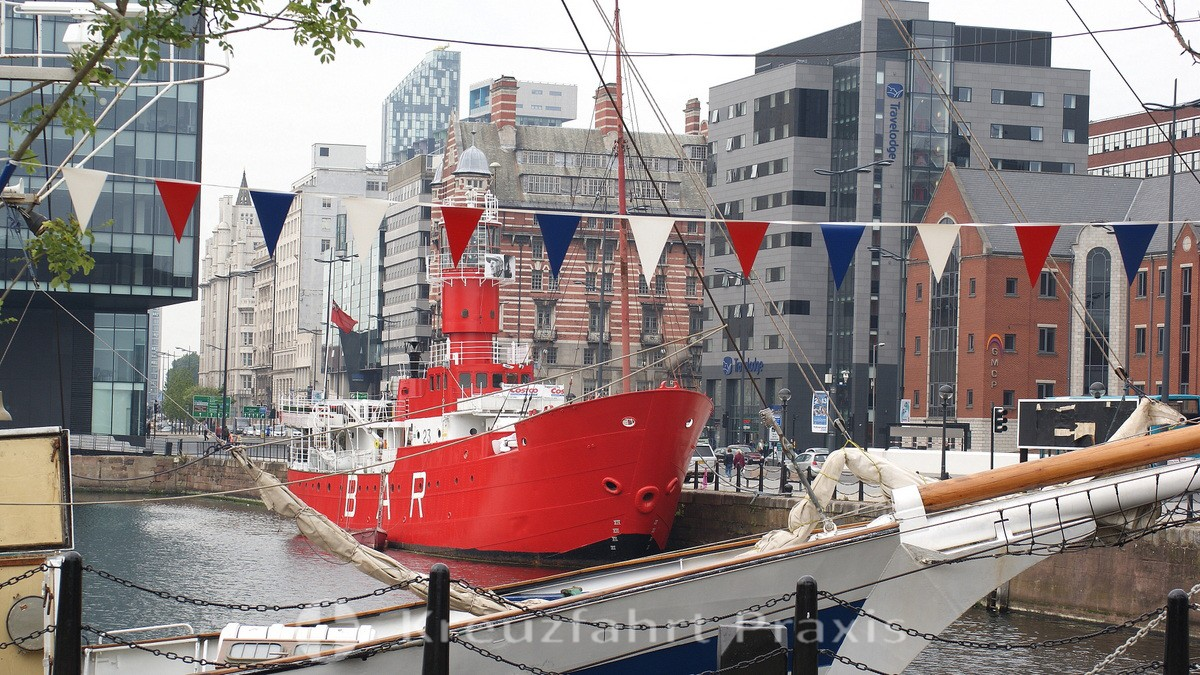 Liverpool - Canning Dock with the Planet Lightship
