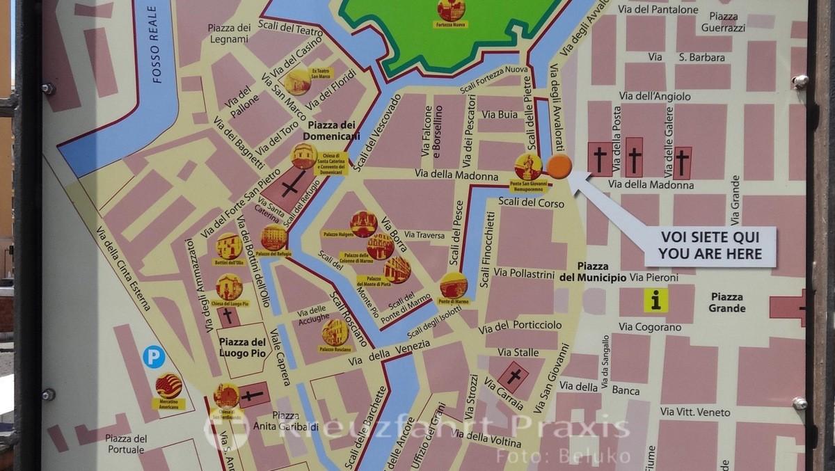 Lageplan des Quartiere Venezia