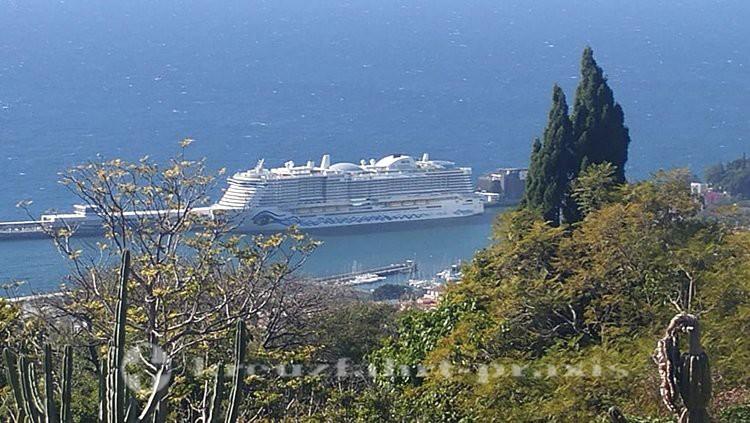 AIDAnova im Hafen von Funchal