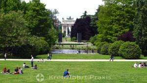 Parco Sempione with the Arco della Pace