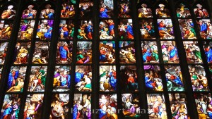 Milan Cathedral - leaded glass window