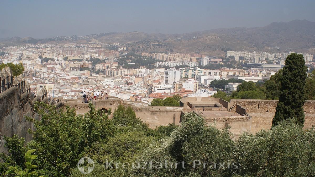 Malaga seen from the Castillo Gibralfaro