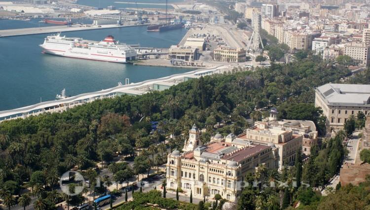 Málagas Rathaus und El Parque