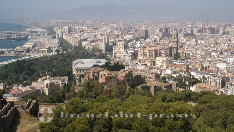 Málaga vom Castillo de Gibralfaro gesehen