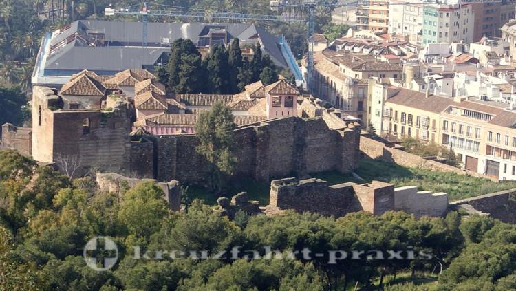 Blick auf die Alcazaba