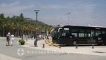 Haltestelle der Hafen-Shuttle-Busse