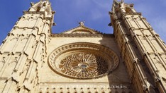 Cathedral - rose window above the main portal