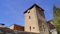Der zentrale Turm des Palau del Rei Sanç