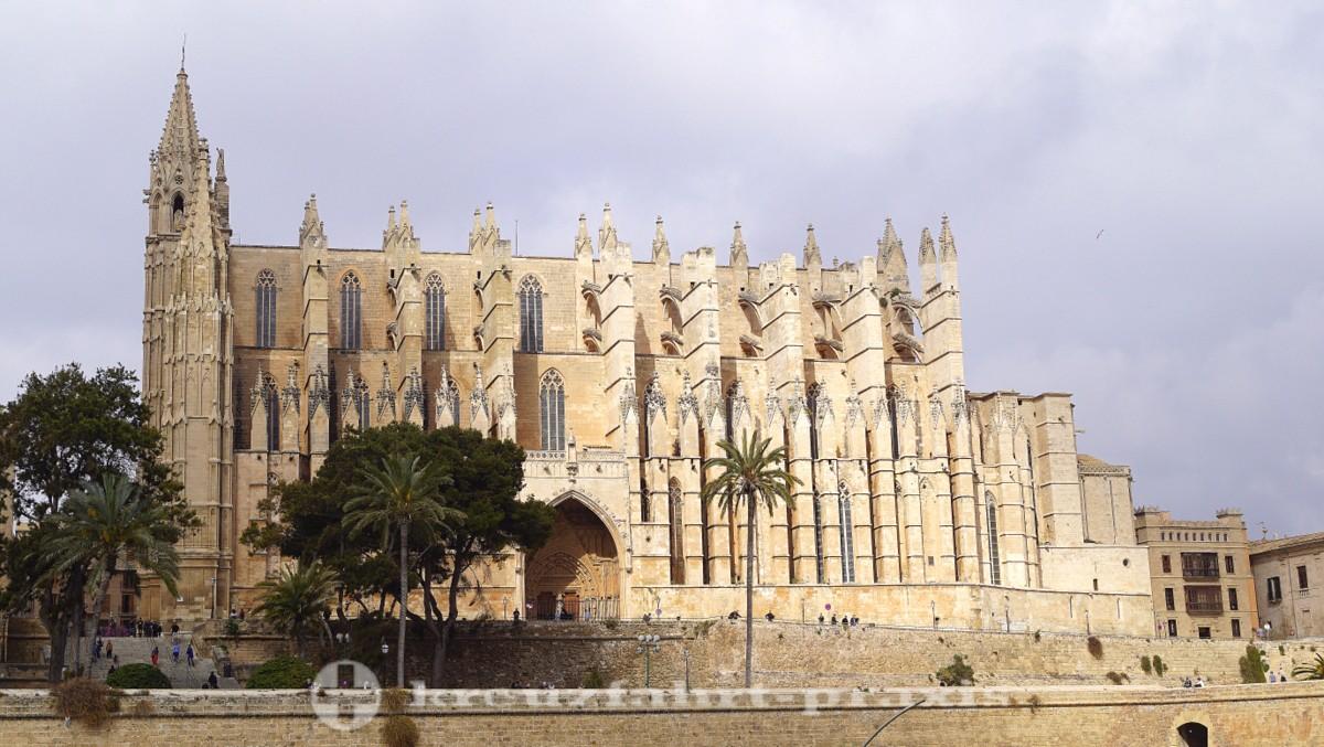 La Seu Cathedral and Parc de la Mar.
