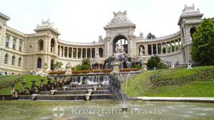 Palais Longchamp mit Wasserkaskade
