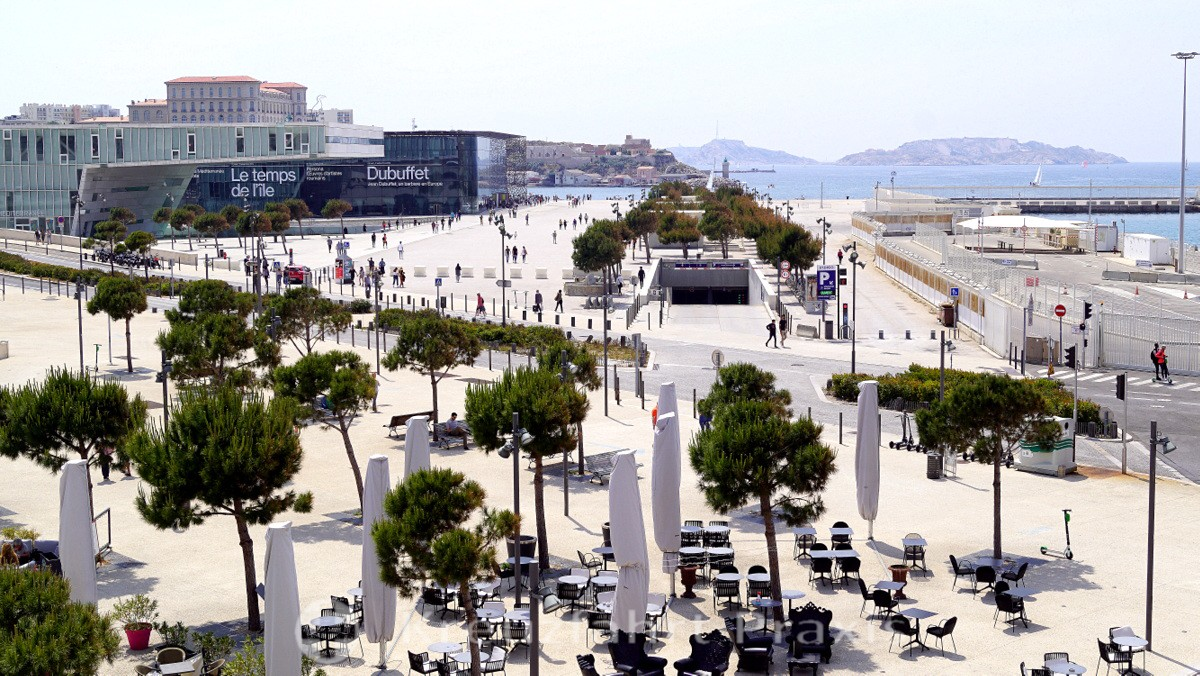 The MuCEM from a bird's eye view