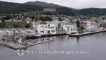 Anleger der Kreuzfahrtschiffe vor Molde