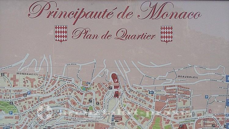 Monaco - Stadtplan