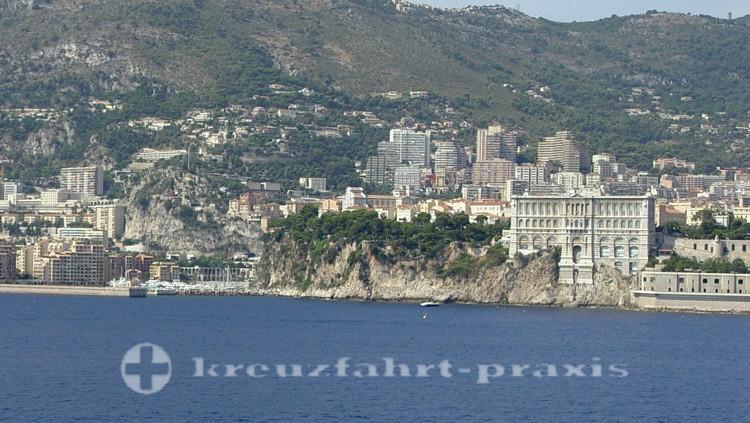Monaco - Ozeanographisches Museum von See gesehen