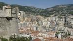 Monaco - Fort Antoine dahinter Monte Carlo