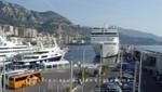 Monaco - Mole der Kreuzfahrtschiffe mit der MSC Sinfonia