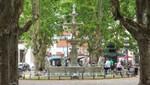 Brunnenanlage auf der Plaza Constitución