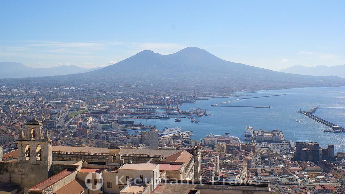 Naples - view of Mount Vesuvius