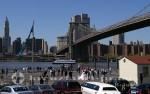 Brooklyn Bridge mit Brautpaar